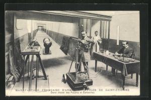 AK Saint-Etienne, Manufacture Francaise d`Armes et Cycles, Stand d`essai des Poudres et Cartouches