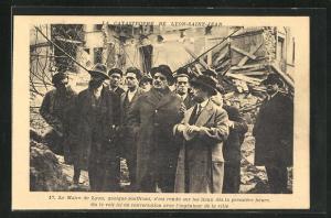 AK Lyon, La Catastrophe de Lyon-Saint-Jean, le Maire de Lyon, Erdrutsch