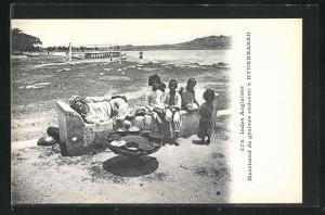 AK Indien, Marchand de graines endormi a Hyderrabad