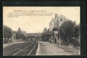 AK Lezinnes, La Gare et les Tunnels