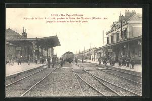AK Sens, Une Page d'Histoire, Aspect de la Gare O.-L.-M.