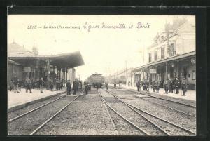 AK Sens, La Gare, Vue interieure
