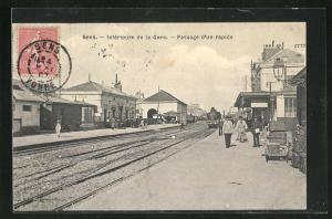 AK Sens, Interieure de la Gare, Passage d'un rapide