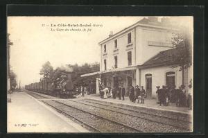 AK La Cote-Saint-Andre, La Gare du chemin de fer