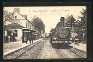 AK Beaurepaire, La Gare, interieur