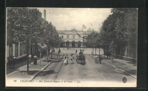 AK Chartres, Rie Jehan-de-Beauce et la Gare