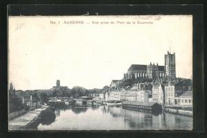 Seiden-AK Auxerre, Vue prise du Pont de la Cournelle
