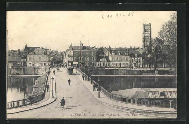AK Auxerre, Le Pont Paul-Bert et Tramway 0