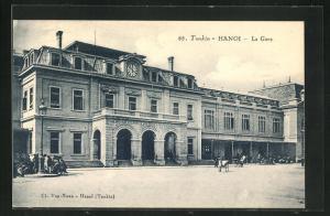 AK Hanoi, La Gare, Bahnhofsgebäude