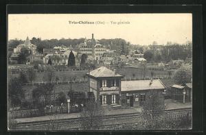 AK Trie-Chateau, Bahnhof und Blick auf den Ort