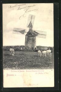 AK Beaune, Le Moulin à Vent, Windmühle