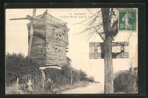 AK Sannois, Le Vieux Moulin, Alte Windmühle
