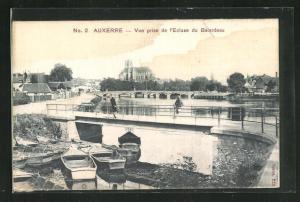 Seiden-AK Auxerre, Vue prise de l`Ecluse du Batardeau