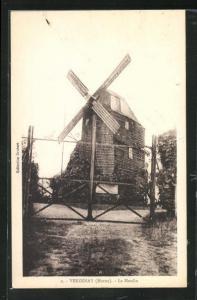 AK Verzenay, Le Moulin, Ansicht der Windmühle