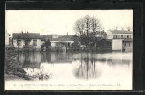 AK Saint Denis, Quartier des Allumettes, Hochwasser 1910