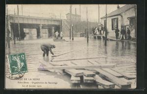 AK Saint Denis, Organisation du Sauvetage, Hochwasser 1910
