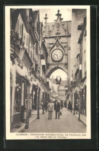 AK Auxeree, Concours International de Musique 1934, Les decors Rue de l`Horloge, Sängerfest