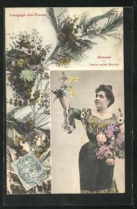 AK Langage des Fleurs, Mimosa, Amour caché, Sécurité, Blumensprache