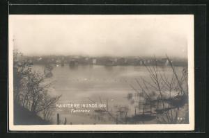AK Nanterre, Inondé 1910, Panorama, Hochwasser