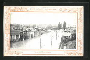 AK Issy-les-Moulineaux, Hochwasser, Chocolat Lombart