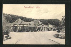AK Friedrichroda, Blick auf den Bahnhof Reinhardsbrunn