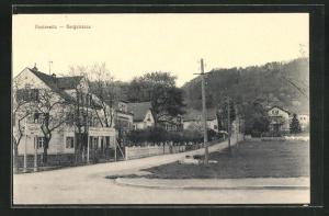 AK Dresden-Hosterwitz, Bergstrasse mit Gasthof zum Kronprinz