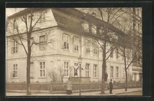 Foto-AK Berlin-Charlottenburg, Jägerstrasse Ecke Oranienstrasse jetzt Wulfsheinstrasse Ecke Nithackstrasse, Caprivi-Haus