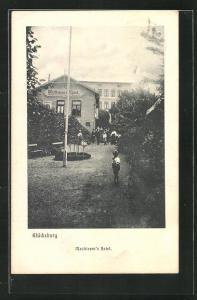 AK Glücksburg, Blick auf Matthiesen`s Hotel