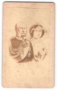 Fotografie Portrait Kaiser Wilhelm I. und Gattin