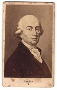 Fotografie Portrait Gottfried Herder, Dichter
