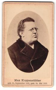 Fotografie Portrait Max Koppenstätter, Vorstand Bayerischer Volksschullehrerverein