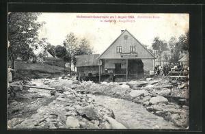 AK Carlsfeld / Erzgebirge, Hochwasser Katastrophe 1908
