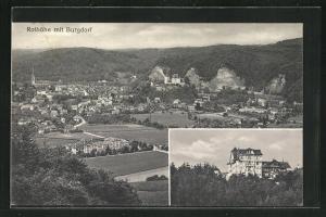 AK Burgdorf, Hotel Rothöhe, Totalansicht