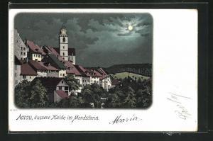 Mondschein-Lithographie Aarau, äussere Halde