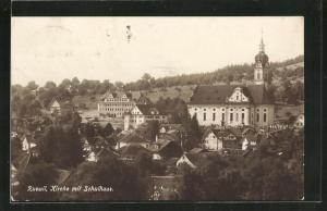 AK Ruswil, Kirche mit Schulhaus