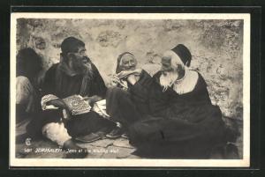 AK Jerusalem, Juden an der Klagemauer, Jews at the Wailing Wall