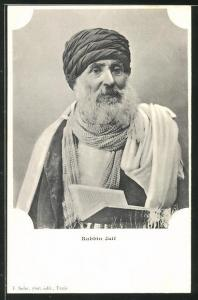 AK Rabbiner mit heiligen Buch