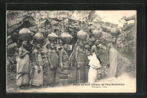 AK Mission du Shiré des Pères Montforteins, Afrikanische Wasserträgerinnen