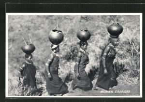 AK Women Carriers, Afrikanische Trägerinnen