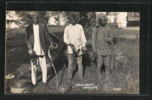 AK Indien, Indian Snake Charmer, Indischer Schlangenbeschwörer