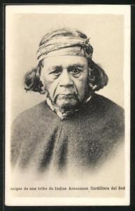 AK Cordillera del Sud, una tribu de Indios Araucanos