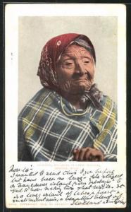 Künstler-AK Angeline, daughter of Chief Seattle, betagte Dame im Portrait