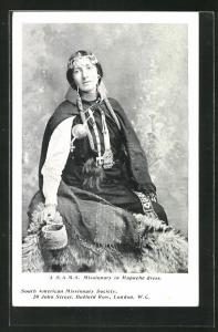 AK Missionary in Mapuche dress