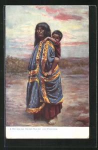 Künstler-AK a Havasupai Indian Squaw and Papoose