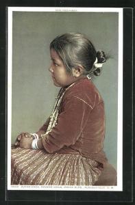 Künstler-AK Zuyah-Chee, Navaho Child, Portrait eines Indianermädchens