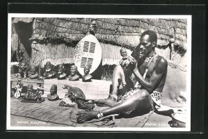 AK Native Sculptor, afrikanischer Skulpturenschnitzer