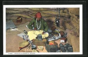 Künstler-AK Arizona, A Navajo Silversmith