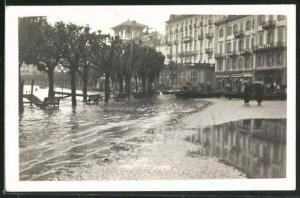 AK Lugano, Strassenpartie während des Hochwasser