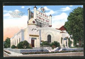 AK Los Angeles, CA, First Hebrew Christian Synagoge