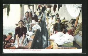 AK Mexikanische Waschfrauen bei der Arbeit